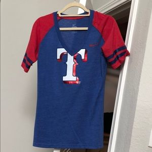Nike women's Texas Rangers baseball T-shirt